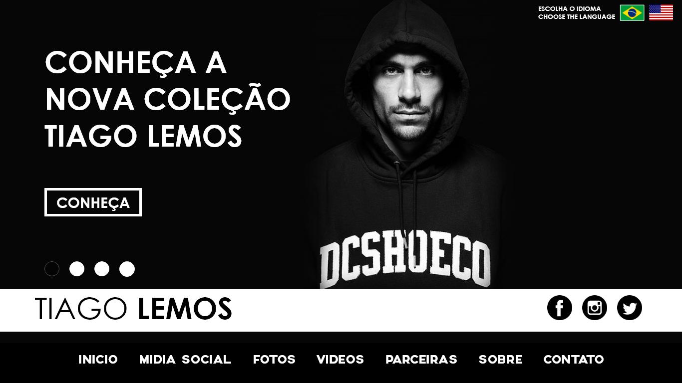 Conceito de website Tiago Lemos